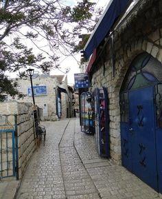 Safed, Israel - The Midrahov is the central part of Jerusalem Street