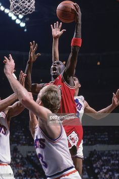 Chicago Bulls Michael Jordan (23) in action vs Cleveland Cavaliers. Game 4. Richfield, OH 5/5/1988