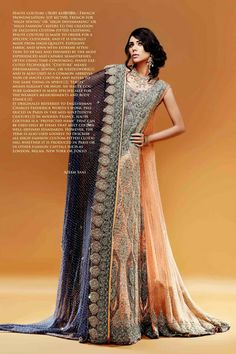 Pakistani Breathtaking Heavy Bridal Collection Magazine Shoot Photography and styling by Azeem Sani, Lahore. Pinned by Zartashia