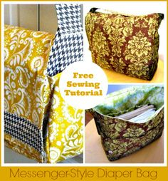 Messenger-Style Diaper Bag – Free Sewing Tutorial from a Mingled Yarn