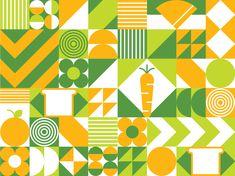 Compost Quilt Pattern designed by Erin Agnoli for DesignScout. Shape Design, Pattern Design, Geometric Shapes Art, Bokashi, Graphic Patterns, Quilting Designs, Compost, Design Elements, Deco