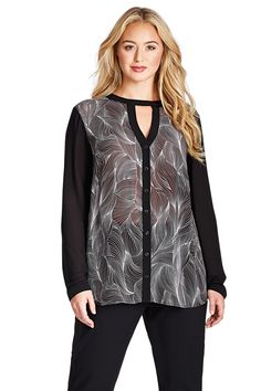 Please Size Printed Blouse – MYNT 1792