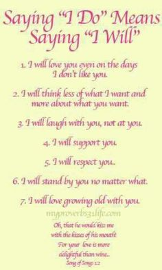saying I will, wedding vows