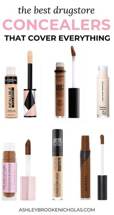 Looking for a concealer that covers everything? I've been on the hunt for the best full coverage concealers from drugstore & today I'm sharing the best of the best - including the best Tarte Shape Tape concealer dupes! Full Coverage Drugstore Concealer, Shape Tape Concealer Dupe, Tarte Shape Tape Dupe, Drugstore Makeup Dupes, Beauty Dupes, Drugstore Foundation, Beauty Hacks, Contouring Makeup, Ride Or Die