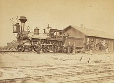 Wyoming Station, Engine 23 on main track, 1868