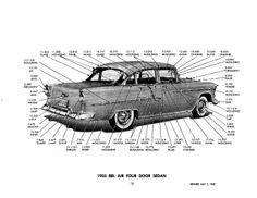 1957 chevy bel air parts catalog