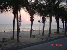 Patong Beach, Pattaya, Thailand at sunset.
