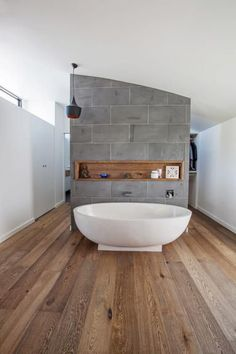 Love this look in the bathroom timber wall tiles with for Bathroom ideas with wood floors
