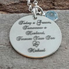 Mother of the Groom Personalized Necklace - Engraved