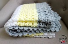 This simple crochet baby blanket is an easy to follow pattern great for beginning crocheters to use for their very first crocheted afghans.