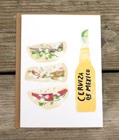 Set of 4 Beer Food Pairings A6 Cards ++ Redcruiser