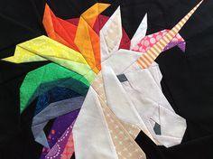 Rainbow Unicorn Pattern. How to piece a rainbow mane. More