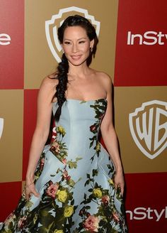 Lucy Liu at the 2013 Golden Globes. (13/01/2013)
