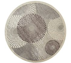 "Nourison Graphic Illusions Grey 7'9"" Round Area"