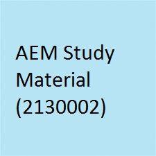 GTU AEM study material, notes provides study material of AEM