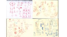 Ken's early concept sketches for Monument Valley features and interactions.
