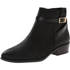 Franco Sarto Women's Shandy Ankle Bootie ($69) ❤ liked on Polyvore featuring shoes, boots, ankle booties, leather bootie, platform boots, round toe ankle boots, short leather boots and leather boots