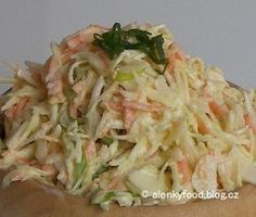 Zelný salát Coleslaw No Salt Recipes, Cooking Recipes, Vegetable Salad, Coleslaw, Healthy Dinner Recipes, Salad Recipes, Food And Drink, Yummy Food, Swim