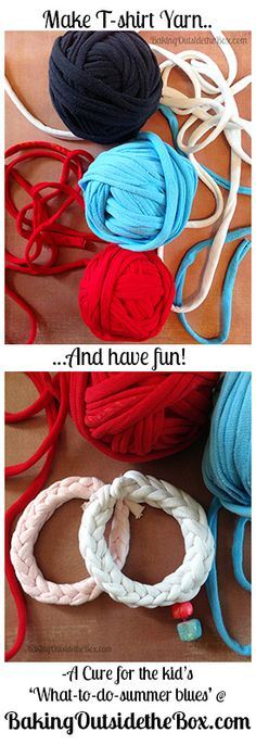 #BakingOutsidetheBox | Make t-shirt yarn and have fun using one of these easy lucet techniques. Easy craft for family.