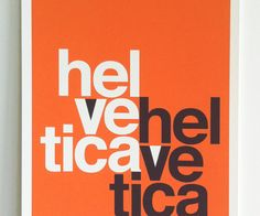 You may have spotted this 1960s promotional poster for the film Helvetica during the current season of Mad Men.  Fortunately, it's been re-released in a limited edition of 100!  So, hurry and snatch it up before it's gone!