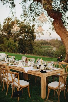 Gavin Farm Tables from Found Vintage Rentals.  Photography by Matthew Morgan Photography.