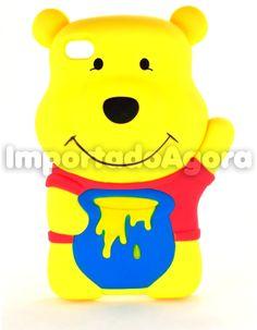 Capa Rígida 3D - Ursinho Pooh  iPhone 4 4S - Para mais informações clique na imagem :)
