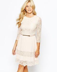 Oasis Lace Insert Skater Dress