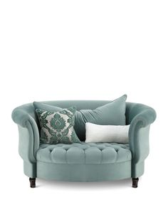 Shop Harlow Sage Cuddle Chair from Haute House at Horchow, where you'll find new lower shipping on hundreds of home furnishings and gifts. Living Room Furniture, Home Furniture, Living Room Decor, Furniture Design, Bedroom Decor, Rustic Furniture, Furniture Layout, Furniture Logo, Outdoor Furniture