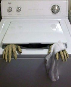 Hands out of washer