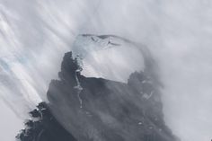 This iceberg  just broke off from an Antarctica iceberg. Could global warming be the culprit?