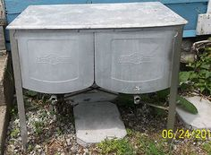 Vintage Speed Queen Embossed Double wash tubs with lid