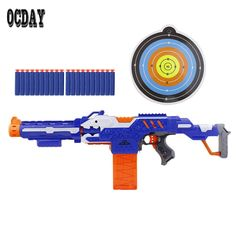 OCDAY Electric Soft Bullet Toy Gun with Box Shooting Submachine Gun