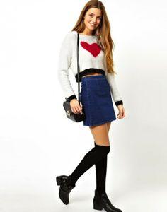 Cómo combinar la falda vaquera: Fotos d elos modelos