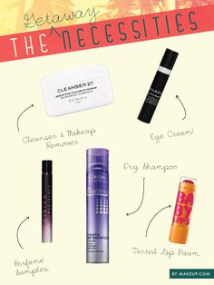 beauty travel essentials // what to pack for your long weekend #MemorialDay