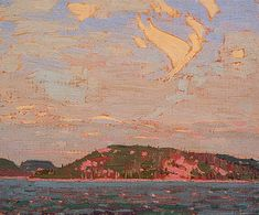 Tom Thomson View over a Lake, Autumn 1916 Canadian Landscape Artist Art Print by EnShape - X-Small Canadian Painters, Canadian Artists, Landscape Art, Landscape Paintings, Landscapes, Print Artist, Artist Art, Group Of Seven Paintings, Tom Thomson Paintings