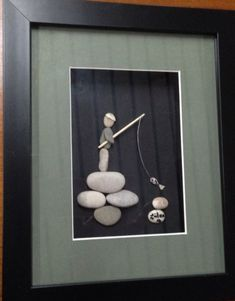 Handy Rock and roll And Pebble Art work Strategies For Many Stone Crafts, Rock Crafts, Arts And Crafts, Pebble Pictures, Stone Pictures, Rock And Pebbles, Sea Glass Art, Shell Art, Driftwood Art