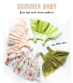Free pattern: Simple baby sundress with ruched straps