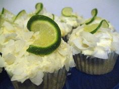 Coconut-Lime Vegan Cupcake and other vegan cupcakes recipes - MyNaturalFamily.com #vegan #cupcakes #recipe