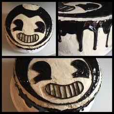[Homemade] Bendy 4-layer Chocolate and White (Box) Cake with Vanilla Swiss Meringue Buttercream and Chocolate Ganache Birthday Cake for my 9 year old!