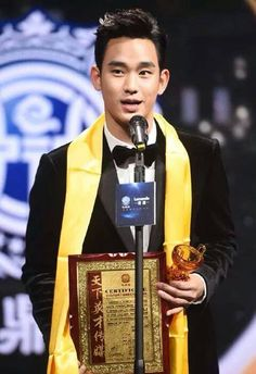 cool Congratulations Kim Soo Hyun for being the Global Best TV Actor @ Huading Awards 01●18●2015