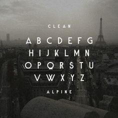 Win a copy of the Alpine font from TDF. #type #fonts #typography