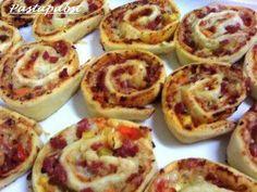 Pizzaschnecken mit Mehl und Hefe frisch - Rezept mit Bild - kochbar.de