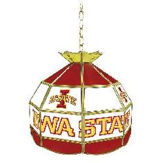 Iowa State University Stained Glass Tiffany Lamp--16 Inch