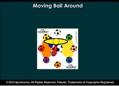 SoccerMat drill for today for exercising and developing sports skills with a soccer ball— Sequence: Moving Ball Around (Level Beginner)