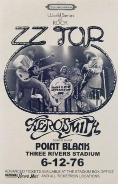 ZZ Top with Aerosmith 1976 LIVE Hill and Gibbons Steven Tyler 11x17 Rare Very Limited Concert Poster Print Only One on Amazon by Mypostergallery, http://www.amazon.com/dp/B007Q4KJ6S/ref=cm_sw_r_pi_dp_JVwIrb1F0R7WW