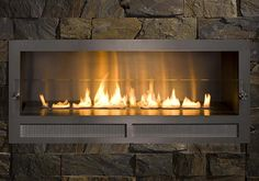Architectural Fireplaces - No Chimney Ethanol Fireplace Ribbon Fire