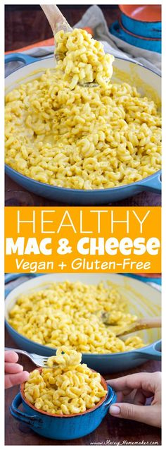This creamy vegetable-based (NO butternut squash!) healthy and easy mac and cheese recipe is the last macaroni recipe you'll ever need, take it from a mac and cheese connoisseur! Kids will love it too, they won't be able to tell that the cheese sauce is cheese-free. Vegan + gluten-free + dairy-free.
