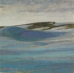 George Carlson-'Hills of Snow'-The Art Spirit Gallery of Fine Art
