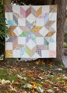 giant star quilt  Great for scraps!