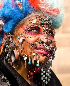 """˚""""Most Pierced Woman"""" - Guinness World Records That is nasty!!"""